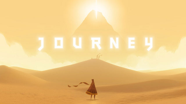 PHOTO: Screenshot of Journey, winner of Game of the Year.