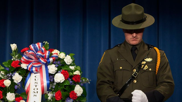 CBP Valor Memorial and Wreath Laying Ceremony on May 16, 2012 honoring Border Patrol Agents Hector R. Clark and Eduardo Rojas Jr and all fallen agents and officers.