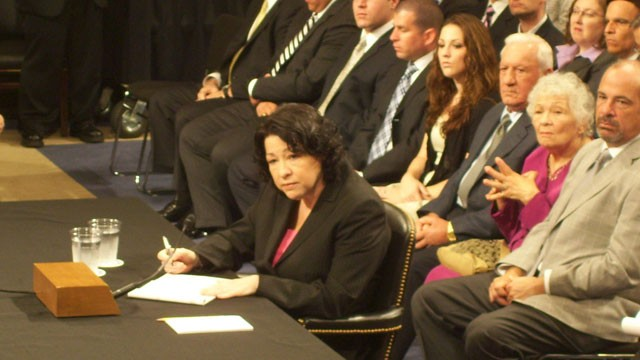 PHOTO: Supreme Court Justice Sonia Sotomayor will become the first Hispanic person to administer an oath of office when she swears in Vice President Joe Biden on Sunday, Jan. 20, 2013.