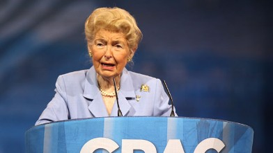 PHOTO: Eagle Forum founder Phyllis Schlafly, 88, speaks to the Conservative Political Action Conference in March 2013.