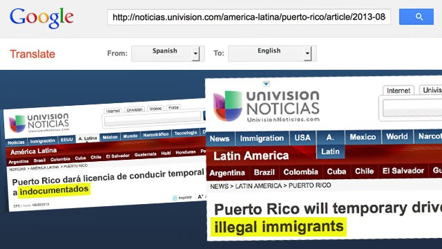 PHOTO: Dear Google Translate,  Undocumented Doesn?t Mean Illegal i=Immigrant