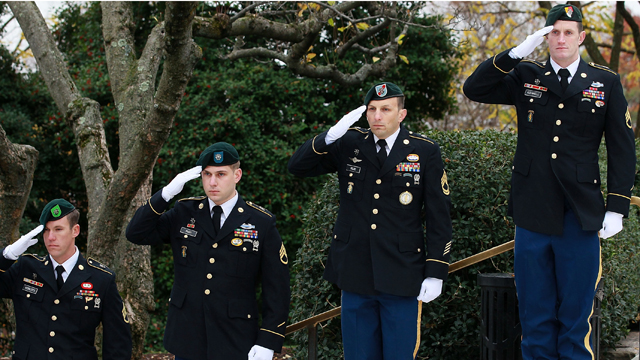 PHOTO: In 1961 President Kennedy authorized U.S. Army Special Forces to wear the Green Beret. They have since bee