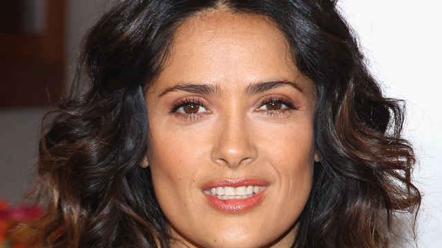 PHOTO: Actress Salma Hayek Teams Up With National Milk Mustache 'Got Milk?' Campaign To Launch The Breakfast Project at L'Ermitage Beverly Hills Hotel on February 24, 2012 in Beverly Hills, California.