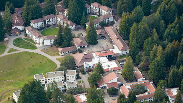 PHOTO: An aerial view of the University of California at Santa Cruz.