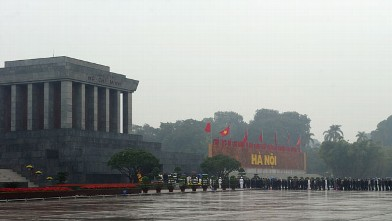 PHOTO:Ho Chi Minh's mausoleum