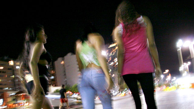 PHOTO: Prostitutes work in the Copacabana neighborhood of Rio de Janeiro, Brazil.