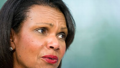 PHOTO: Chavez was not a fan of Condoleezza Rice.
