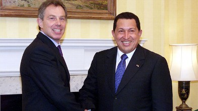 PHOTO:Chavez had a few opinions about Tony Blair.