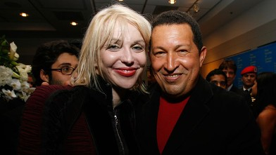 PHOTO:Chavez and Courtney Love.