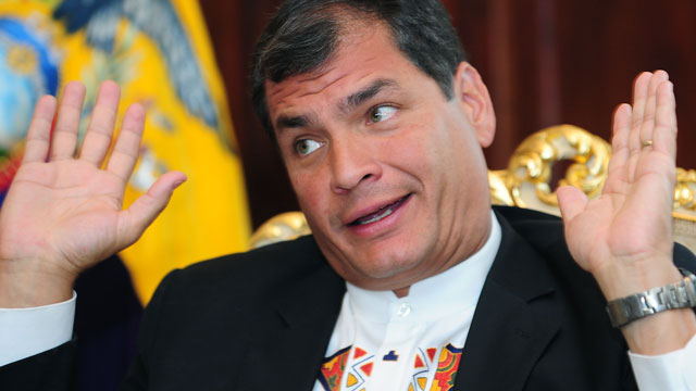 PHOTO: Ecuador's President partially backs the legalization of drugs.