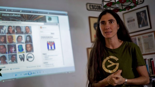 PHOTO:  Cuban blogger and philologist Yoani Sanchez, best known for her blog, Generacion Y.