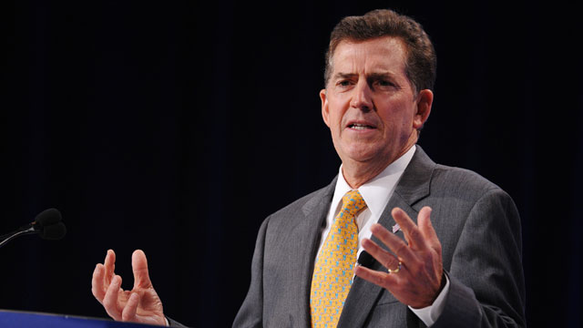 PHOTO: Former Sen. Jim DeMint (R-S.C.) now leads the Heritage Foundation, which released a report Monday claiming immigration reform could cost taxpayers $6.3 trillion.