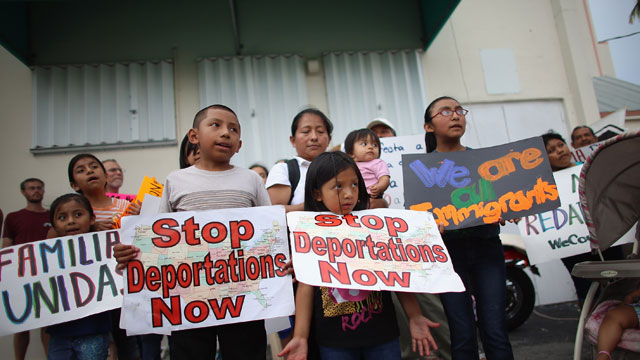 PHOTO: Children participate in a rally calling on President Obama to suspend deportations and for Congress to pass an immigration reform that?s inclusive of all 11 million undocumented people in the U.S. on May 11, 2013 in Homestead, Florida.