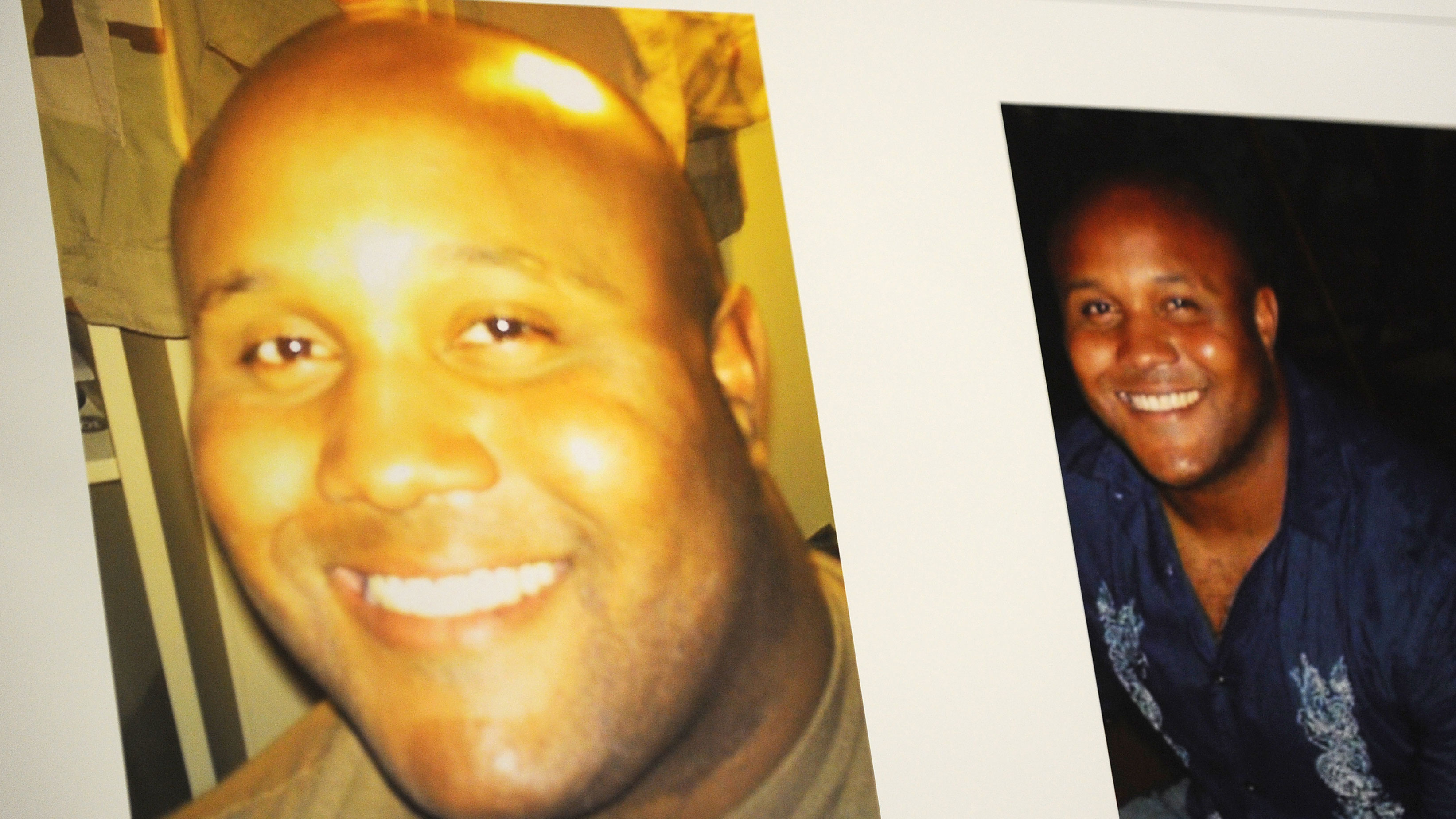 PHOTO:Images used during a press conference on the manhunt for ex-LAPD cop Christopher Dorner.