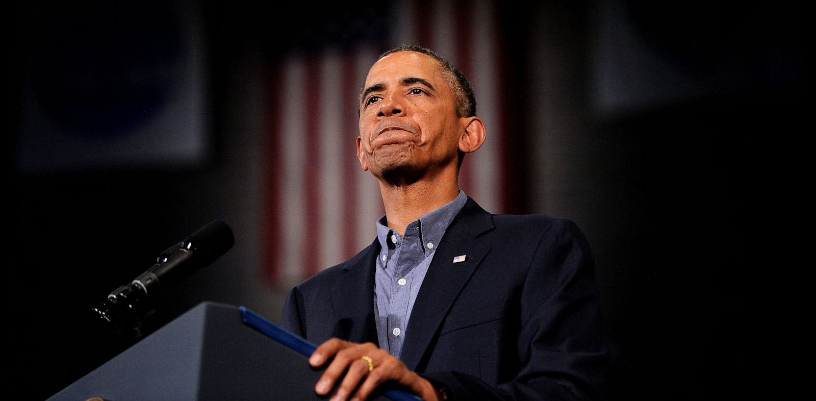 PHOTO: US President Barack Obama speaks on education at University of Buffalo, the State University of New York, on August 22, 2013 in Buffalo, New York.