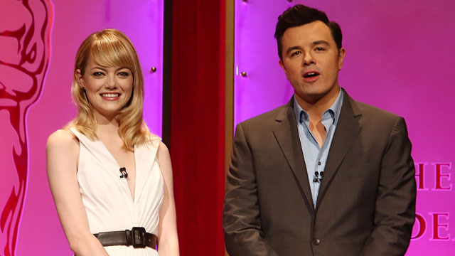 PHOTO: Emma Stone and Seth MacFarlane at The 85th Academy Awards - Nominations Announcement