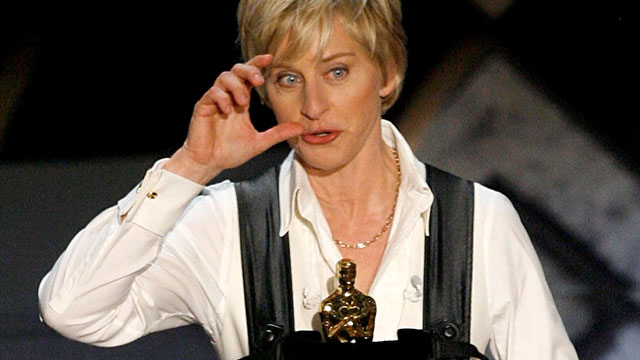 PHOTO: Ellen is hosting the Oscars! Woo, etc!