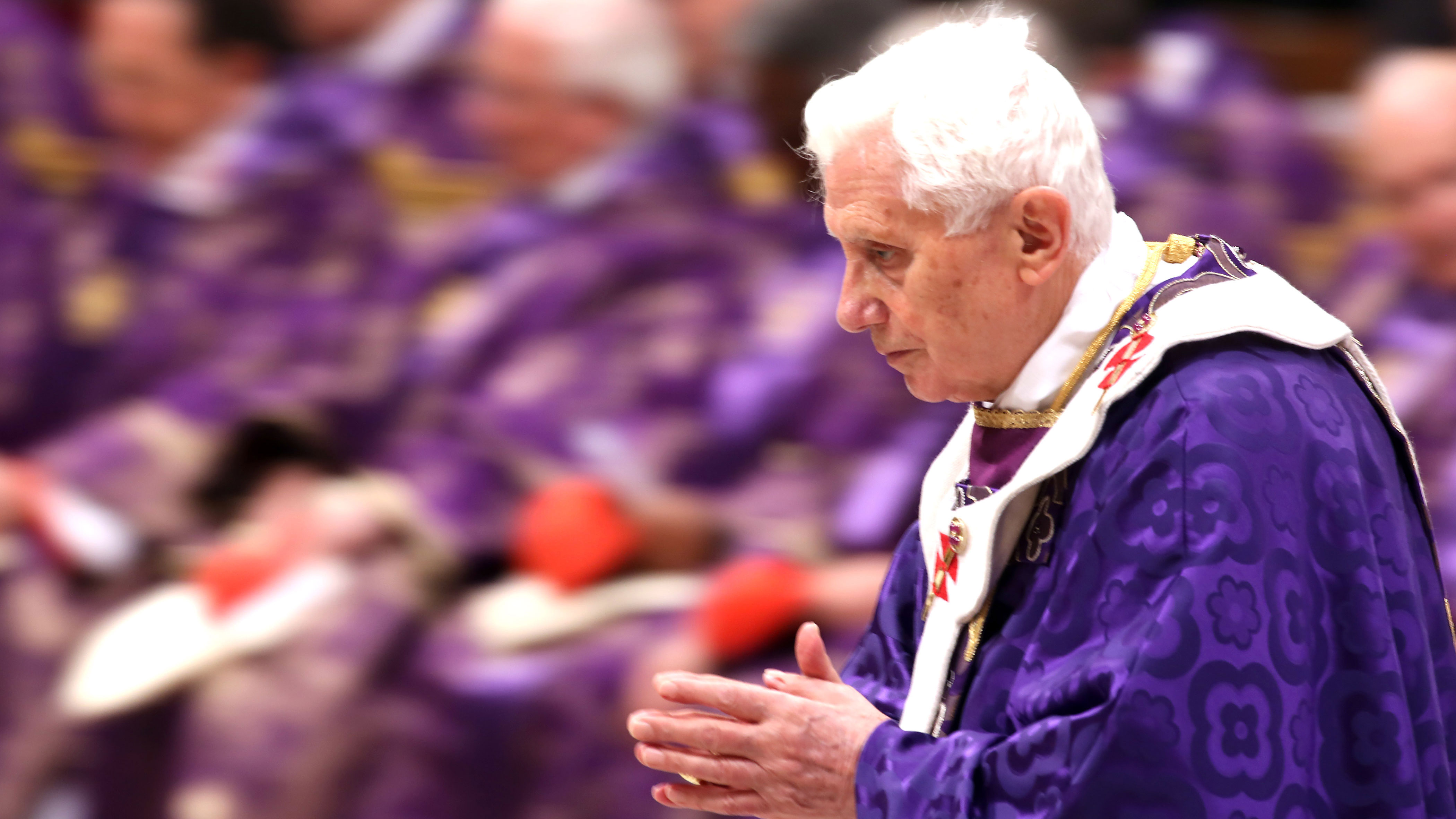 PHOTO: The Vatican maintains that advanced age caused Benedict to step down, but some insist his health is failing.