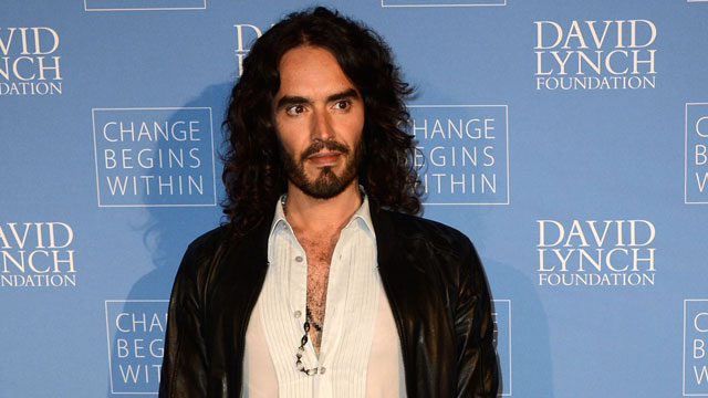 PHOTO: Russell Brand at the 'Meditation in Education' campaign in LA on April 2, 2013.