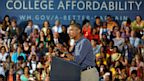 PHOTO: US President Barack Obama speaks on education at the Henninger High School on August 22, 2013 in Syracuse, New York. Obama is on a two-day bus tour through New York and Pennsylvania to discuss his plan to make college more affordable.