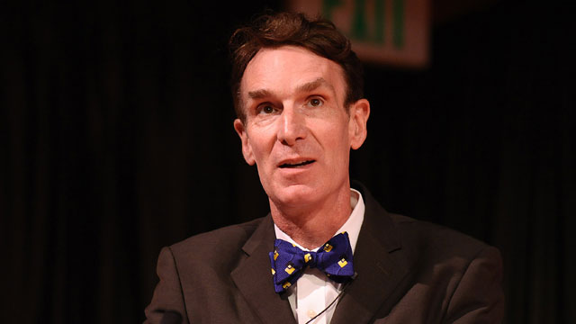 PHOTO: Bill Nye attends the National Read For The Record Day's press conference at the Los Angeles Public Library on October 8, 2009 in Los Angeles, California.