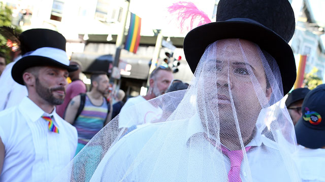 PHOTO: Supporters of same-sex marriage celebrate during a block party on Castro Street on June 26, 2013 in San Francisco, California.