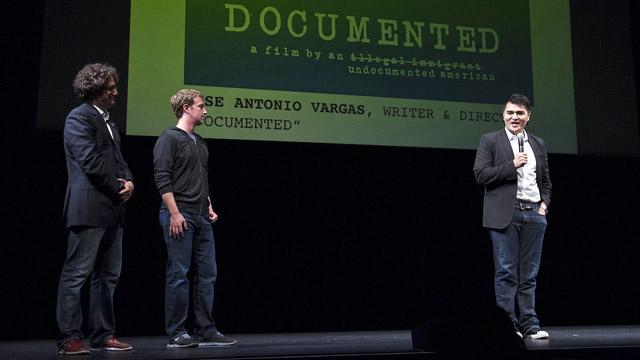 PHOTO:Mark Zuckerberg Talks Immigration Reform at Documented Screening