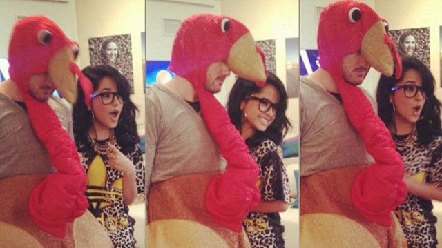 PHOTO:&nbsp;Becky G and turkey