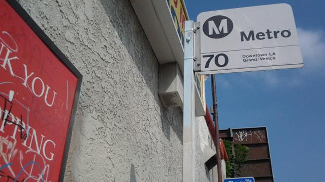 PHOTO:A photo of LAs metro system.