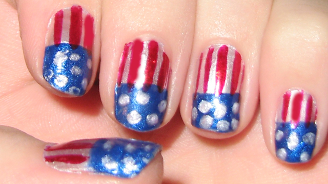 Awesome fourth of july nail art abc news photo patriotic nail art in honor of 4th of july prinsesfo Choice Image