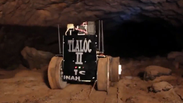 A remote-controlled robot called Tlaloc II found three previously unknown chambers under the Quetzalcoatl pyramid in the ancient city of Teotihuacan, Mexico.