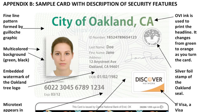 PHOTO: A sample identification card that the City of Los Angeles will consider offering to residents, regardless of their immigration status.
