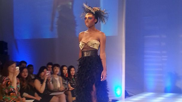 PHOTO: The show, part of Couture Fashion Week, featured two other Native designers: Cree Nisga'a and Linda Kay Peters. For information about other talented Native fashion designers, check out BeyondBuckskin.com.