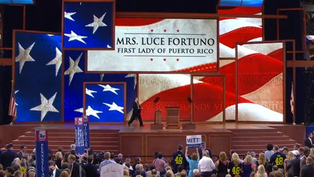 PHOTO: As Lucé Vela Fortuño appeared on stage at the RNC, the name her parents gave her did not.