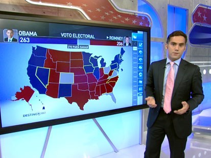 Univision News' Enrique Acevedo walks us through the states that can swing the elections.