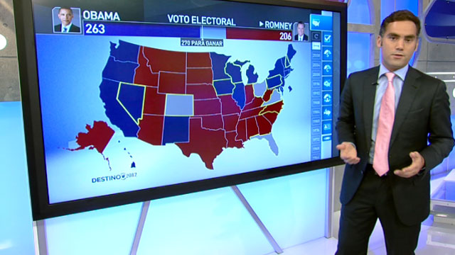 Univision News Enrique Acevedo walks us through the states that can swing the elections.