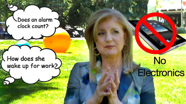PHOTO:Arianna Huffington tells us not to sleep with electronics by your bed.