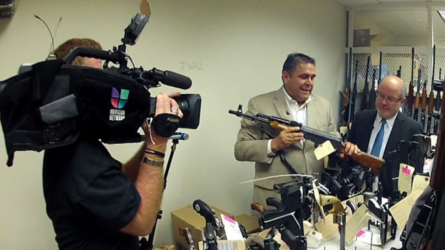 "Behind the scenes with Gerardo Reyes of Univision's investigative unit during the filming of ""Aqui Y Ahora's"" Fast and Furious Special."