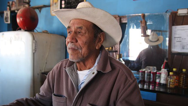 PHOTO: Candelario Valdez tends bar in Boquillas, Mexico.