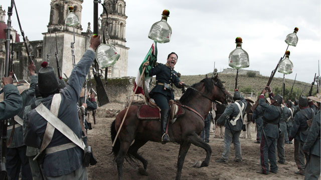 "PHOTO: Is this Cinco de Mayo about the Battle of Puebla or another shot of tequila? Movie clip from the movie ""Cinco de Mayo""."