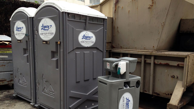 PHOTO: Porta potties