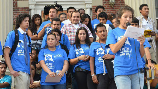 PHOTO: A program giving deportation relief to young undocumented immigrants was first announced on June 15, 2012.