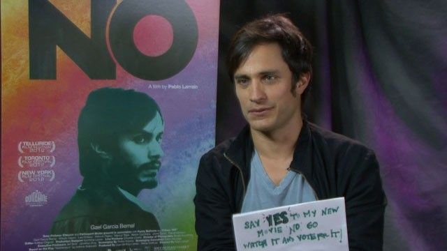 PHOTO: Gael Garcia Bernal talks about his new movie 'No'.