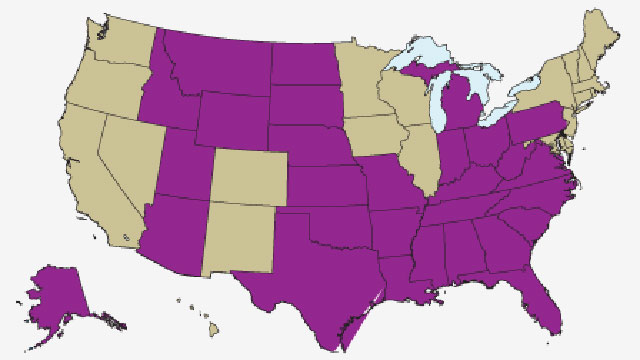 PHOTO: States where it is legal to fire gay people