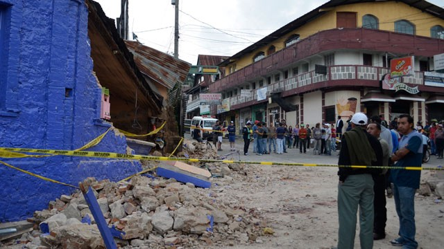 A 7.4 magnitude earthquake rattled northern Guatemala on Wednesday. It was felt as far as El Salvador and Mexico City.