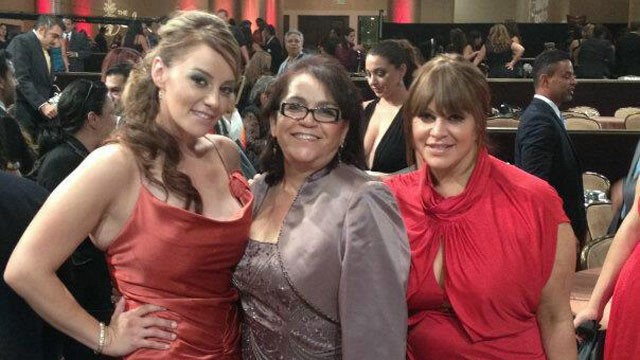 PHOTO: Rosie Rivera, their mother, and Jenni Rivera at the 27th Annual Imagen Awards