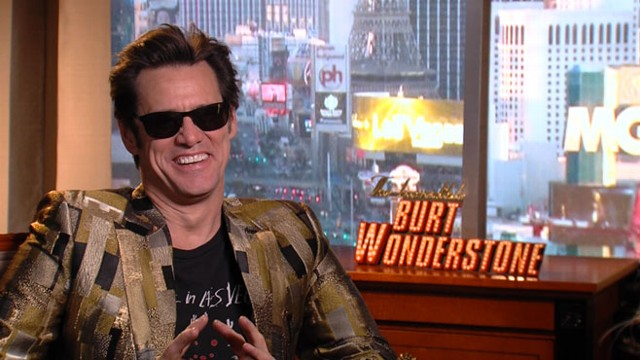 PHOTO: Jim Carrey discusses The Incredible Burt Wonderstone, a comedy on Las Vegas magicians.