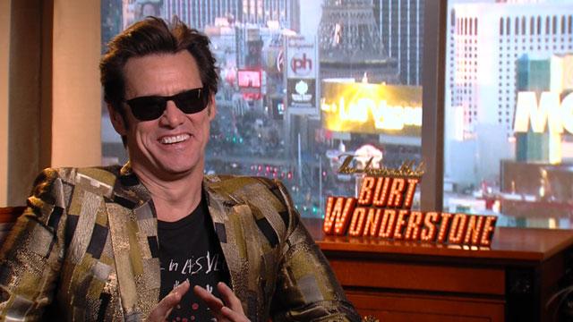 PHOTO:Jim Carrey discusses The Incredible Burt Wonderstone, a comedy on Las Vegas magicians.