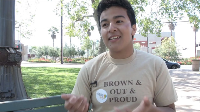 PHOTO: Kevin Vasquez said that the LGBTQ forum made him feel like he was with family.