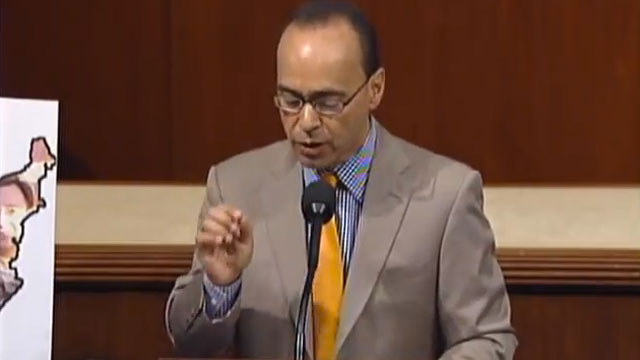 PHOTO: Congressman Luis Gutierrez (D-IL) speaking on the House floor.